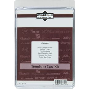 Care Kit, Trombone, Conn-Selmer Contains: Polish Cloth, Slide Oil, Mouthpiece Brush, Bore Brush,  Tu