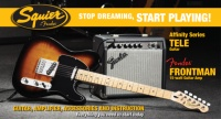 Squier Stop Dreaming, Start Playing!  Set: Affinity Series  Tele with Fender Frontman15G Amp, Brown