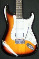 Squier Bullet® Strat® with Tremolo HSS, Rosewood Fingerboard, Brown Sunburst