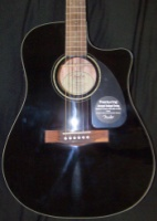 FENDER CD-60CE, Black, with Case