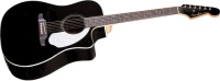 FENDER Sonoran  SCE, Black with Matching Headstock