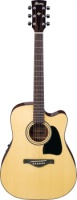 IBANEZ Artwood Traditional Acoustic Electric Series Acoustic Guitar Natural High Gloss Finish Natur