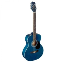 Stagg Auditorium Acoustic Guitar with linden top - Blue