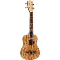 Sun Star Music Spalted Maple Concert Ukulele w/Pickup