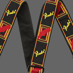 "Fender 2"" Monogrammed Strap, Black/Yellow/Red"
