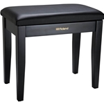 ROLAND Piano Bench, Satin Black, vinyl seat, music compartment