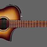 Ibanez AEWC300 Acoustic-Electric Guitar, Natural Brown Burst