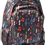 "AIM GIFTS BACK PACK MUSIC NOTES- 16.5"" L x 5.5"" W x 12"" H"