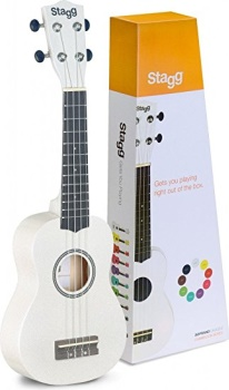Stagg SOPRANO UKULELE WHITE+BAG