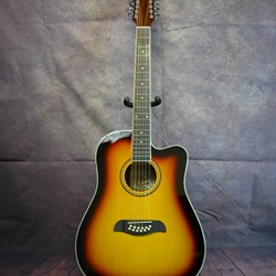 Oscar Schmidt 12 String Acoustic/Electric Guitar OD312CETS